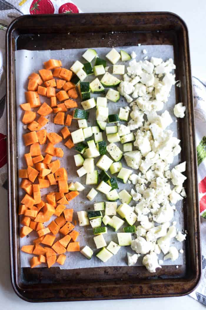 Seasoned Roasted Veggies for Pasta