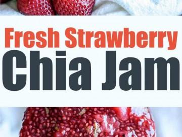 Fresh Strawberry Chia Jam