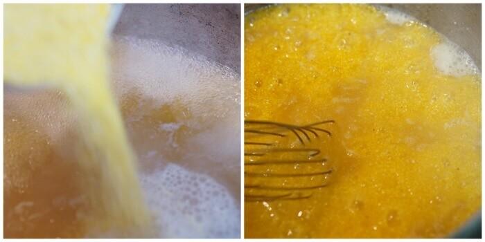 Polenta Bowl being mixed