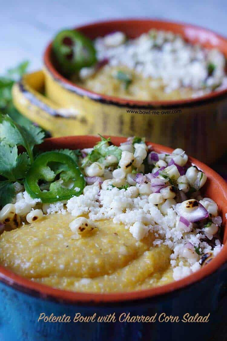 Polenta Bowl with Charred Corn Salad & Cojita Cheese