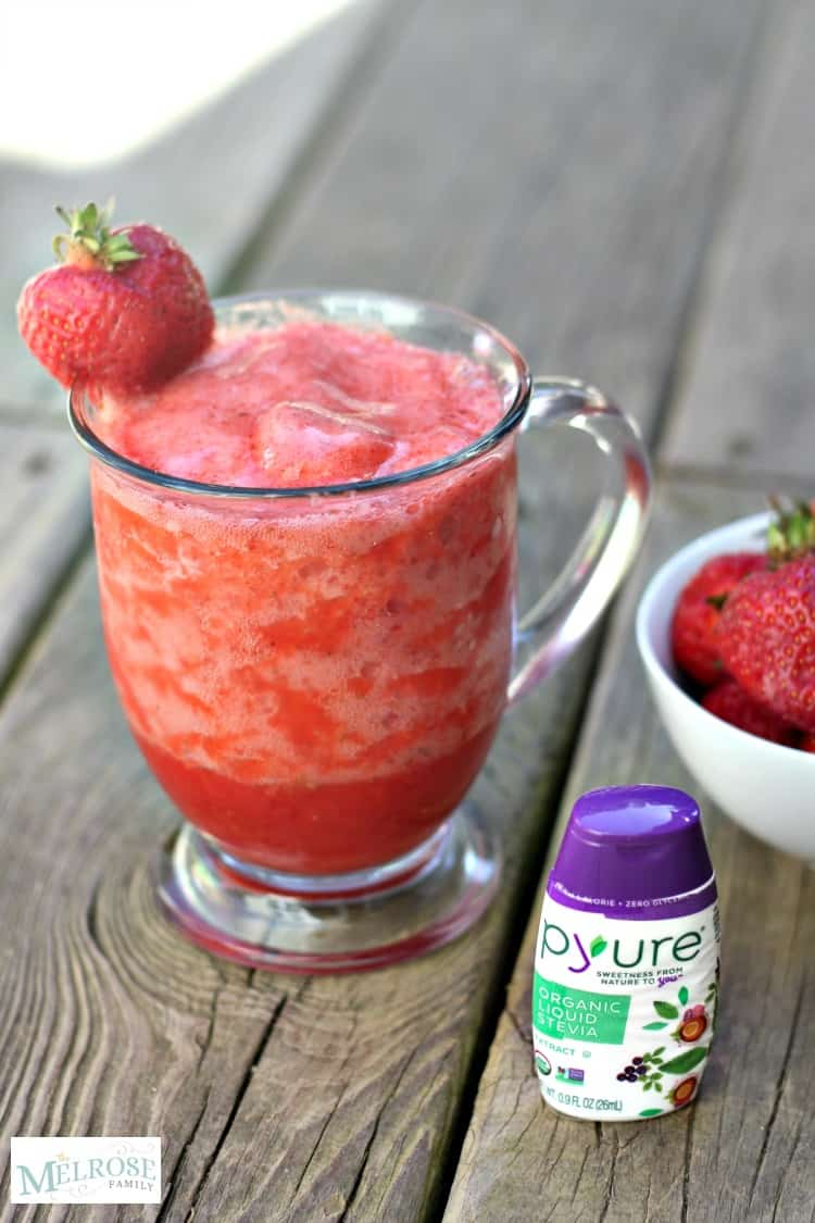 Sugar Free Strawberry Slushie with Pyure Organic Stevia