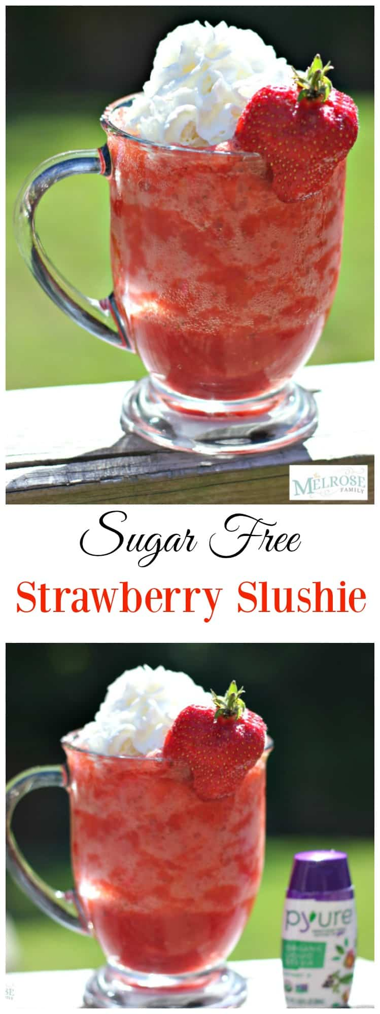 Sugar Free Strawberry Slushie #ad