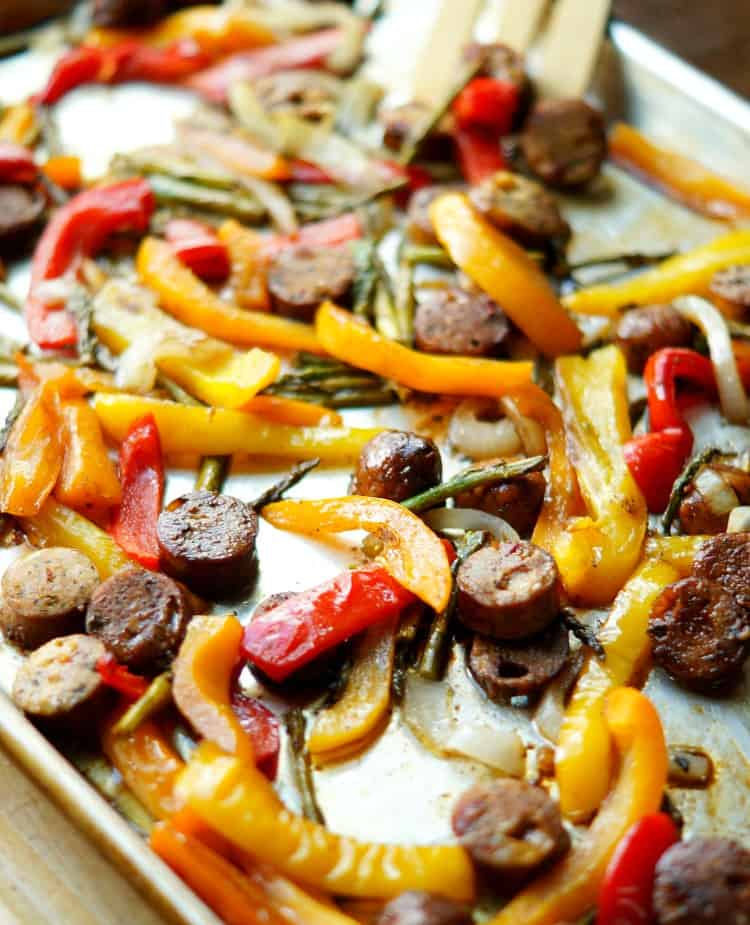 Roasted Vegetables & Sausage