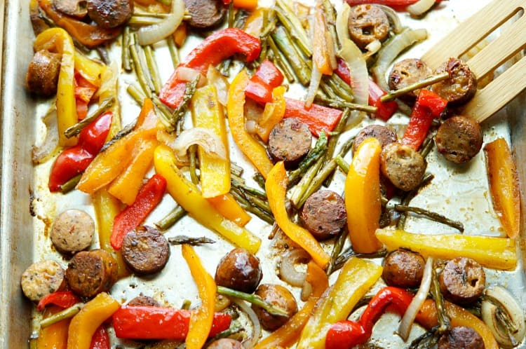 Sheet Pan Meal with sausage & Veggies