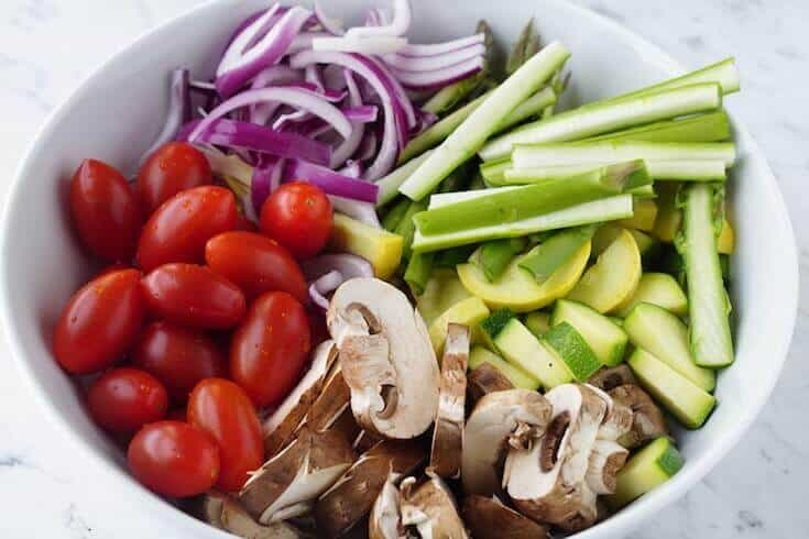 Vegetables for Pasta Primavera Bowl