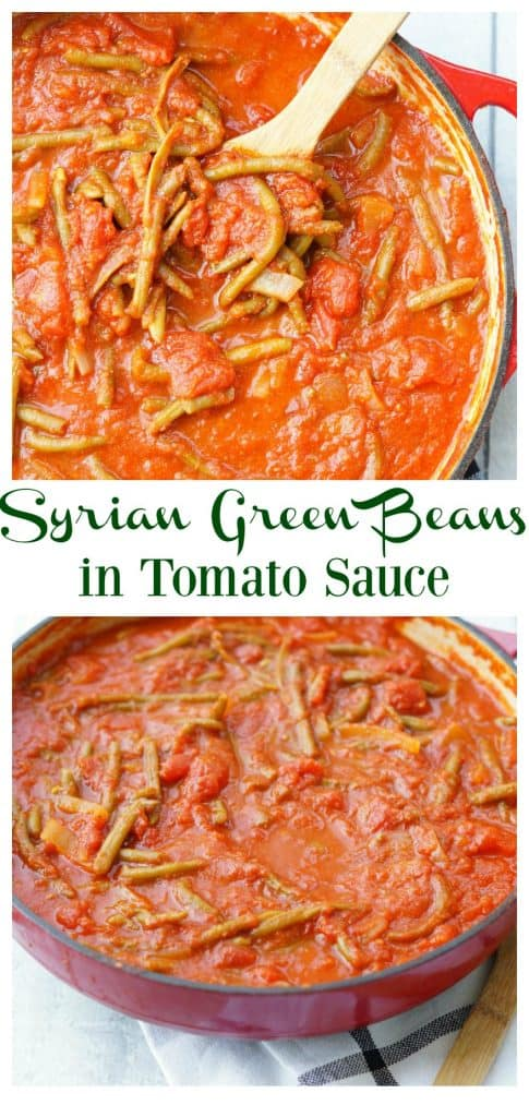 Syrian green beans in tomato sauce the melrose family syrian green beans in tomato sauce are the perfect easy side dish for nearly any meal serve these with chicken fish or steak and you have a delicious forumfinder