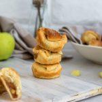 Stacked apple pie bites