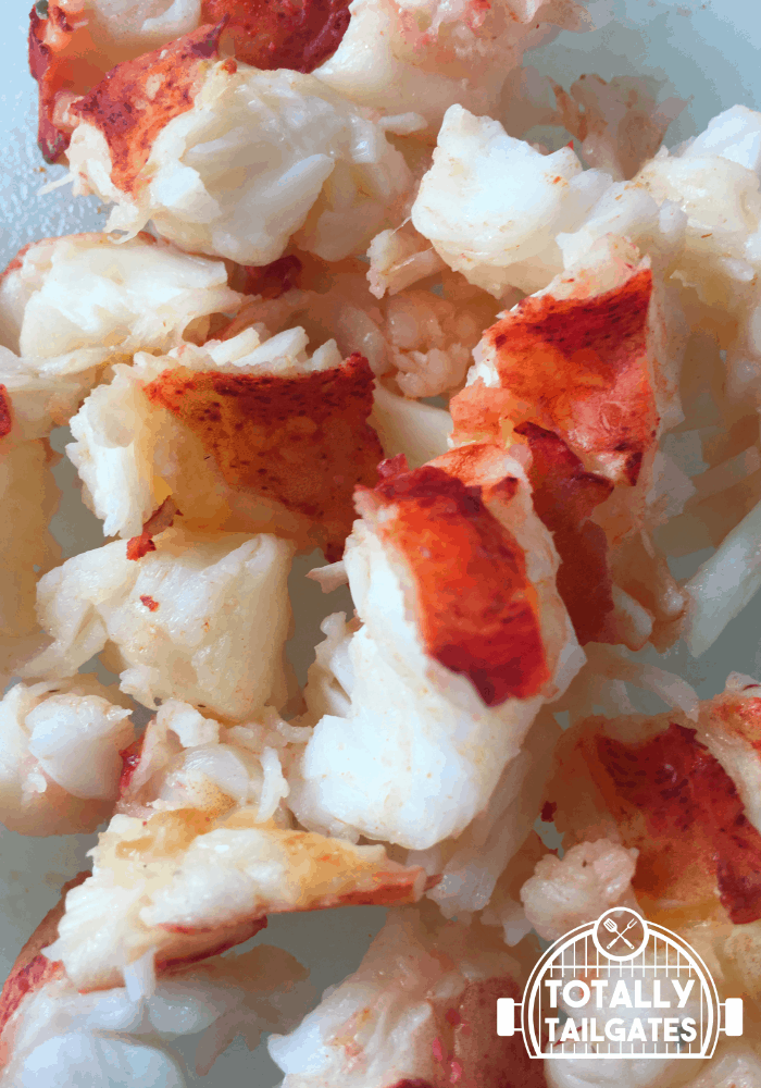 cooked and chopped lobster meat for lobster mac and cheese