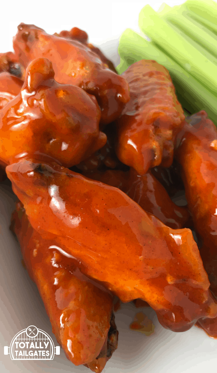 football tailgate food sweet & spicy chicken wings