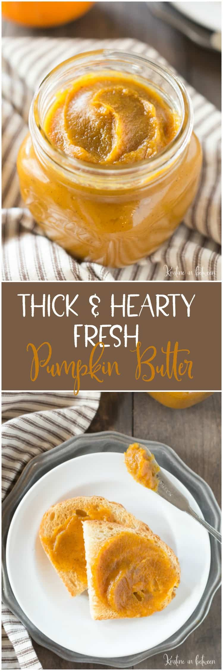 Thick & Hearty Fresh Pumpkin Butter