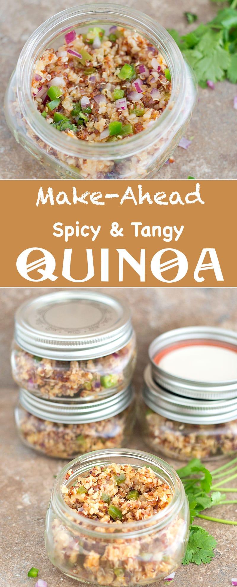 make ahead spicy quinoa PIN