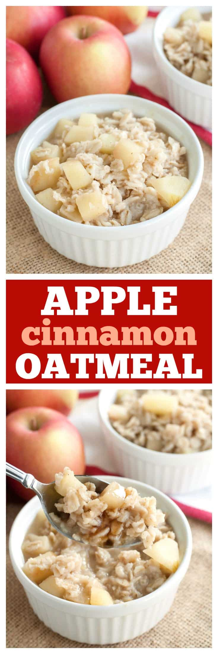 Apple Cinnamon Oatmeal Recipe with sore throat soothing ingredients