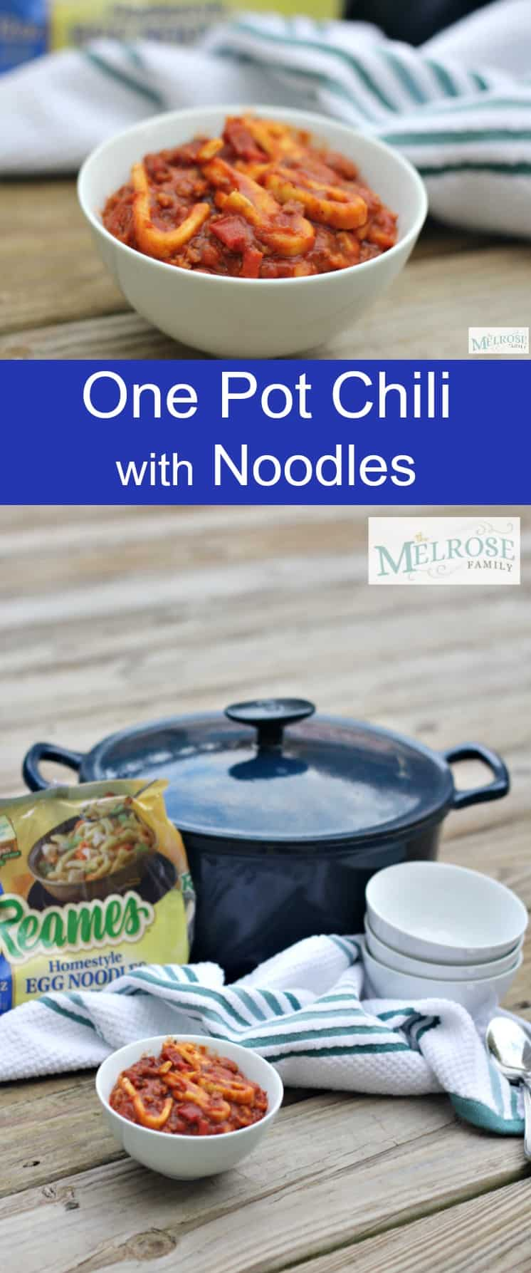 One Pot Chili with Noodles