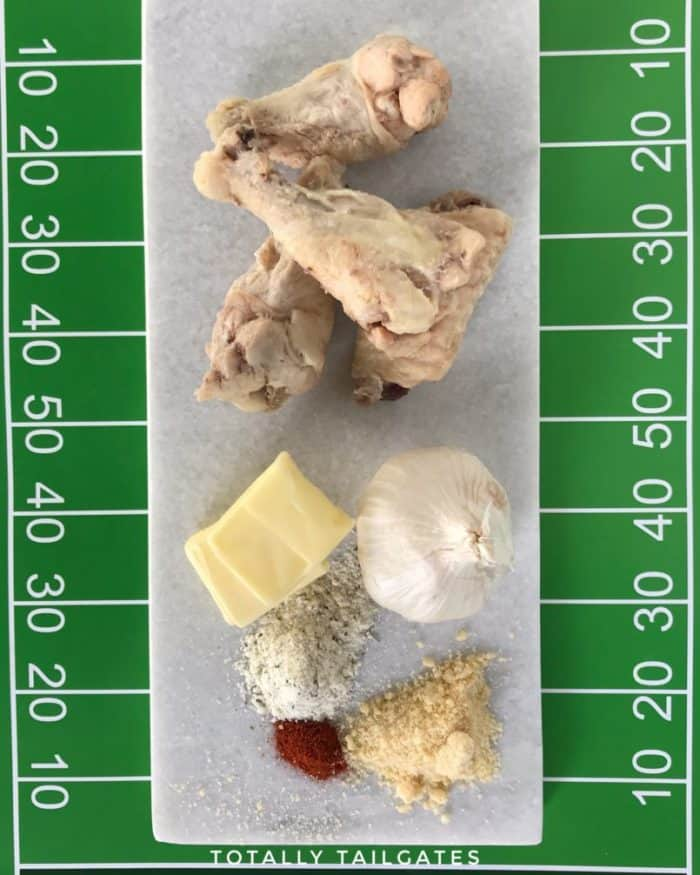 Just a few ingredients are needed for Garlicky Parmesan Chicken Wings