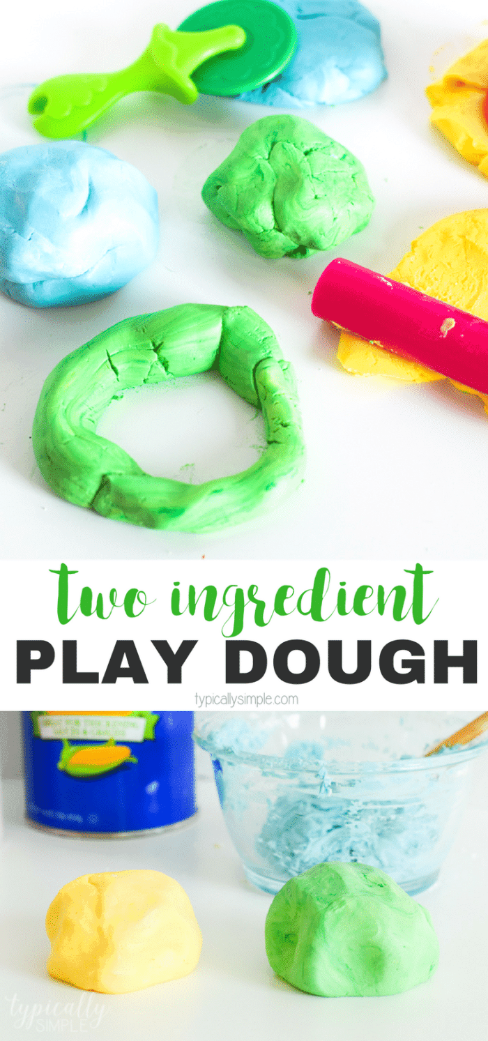 Two Ingredient Play Dough Recipe for Kids