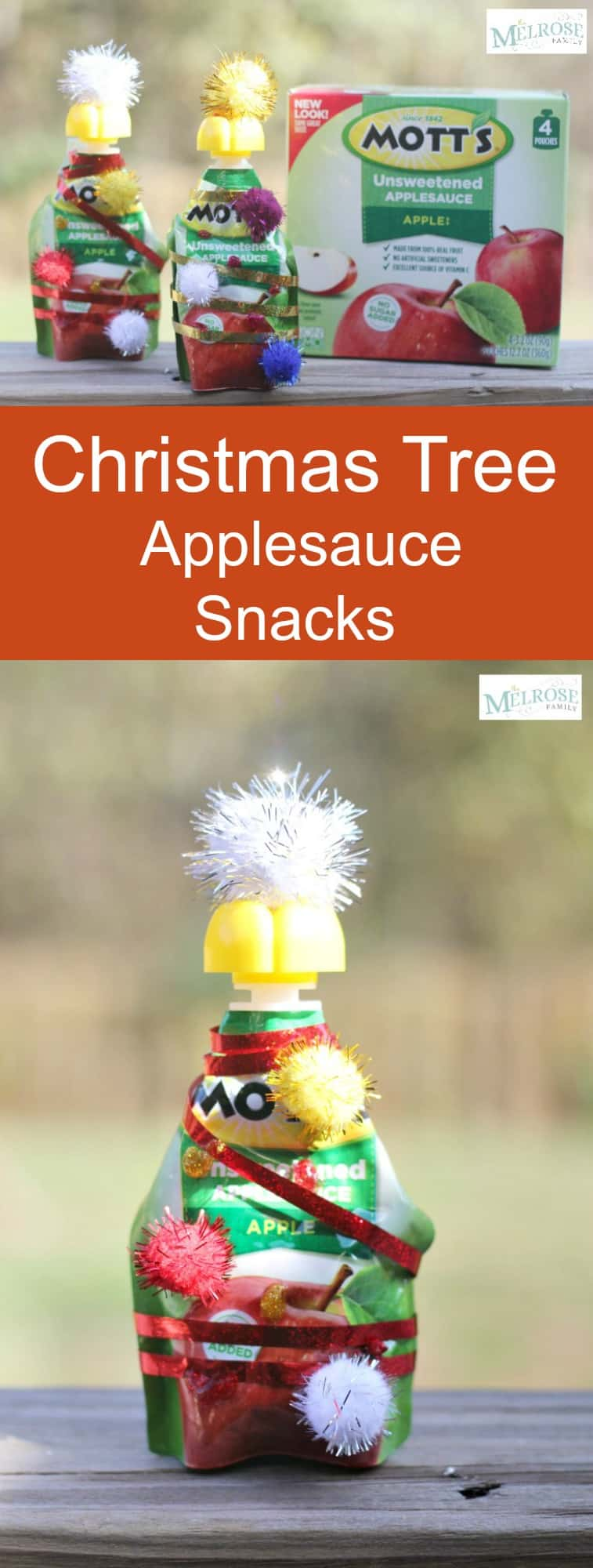 Christmas Tree Applesauce Snacks with @motts #ad #christmas2017 #classsnack