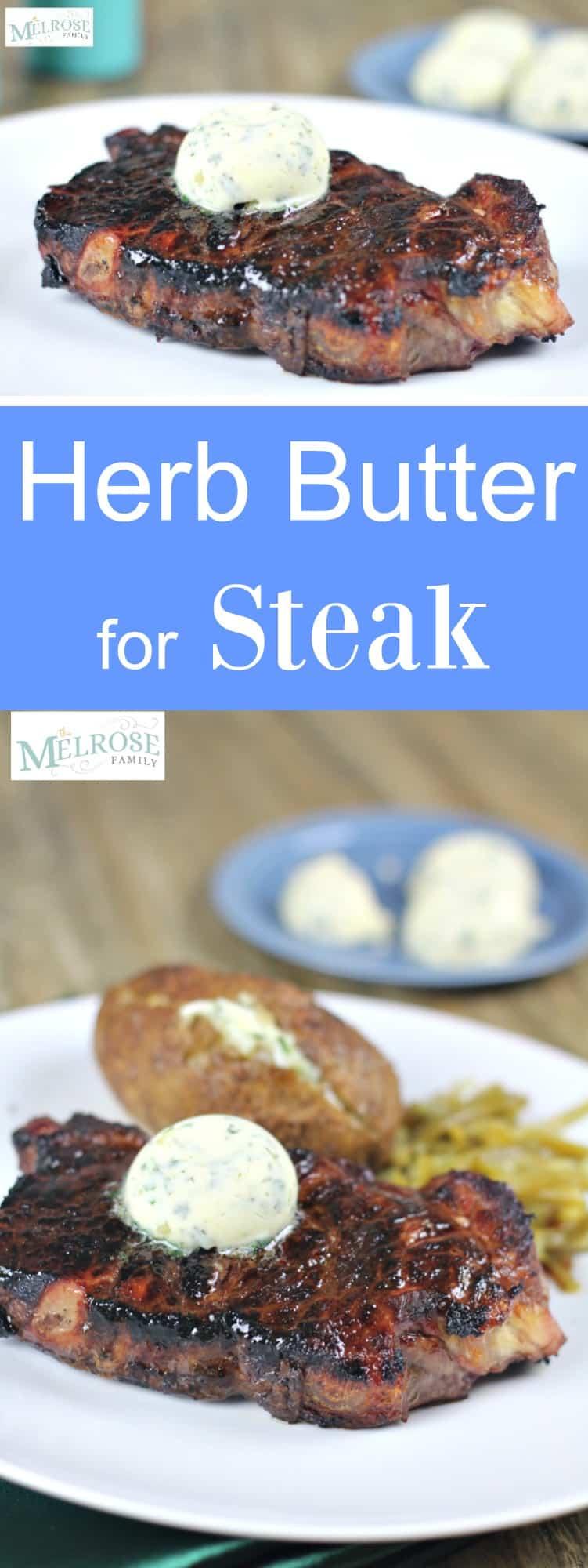 Garlic Herb Butter for Steak