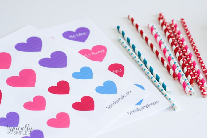 Valentine's Day Party ideas supplies for Valentine Straw Toppers