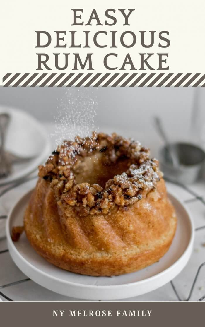 Rum Cake with Sugar sprinkling o nit