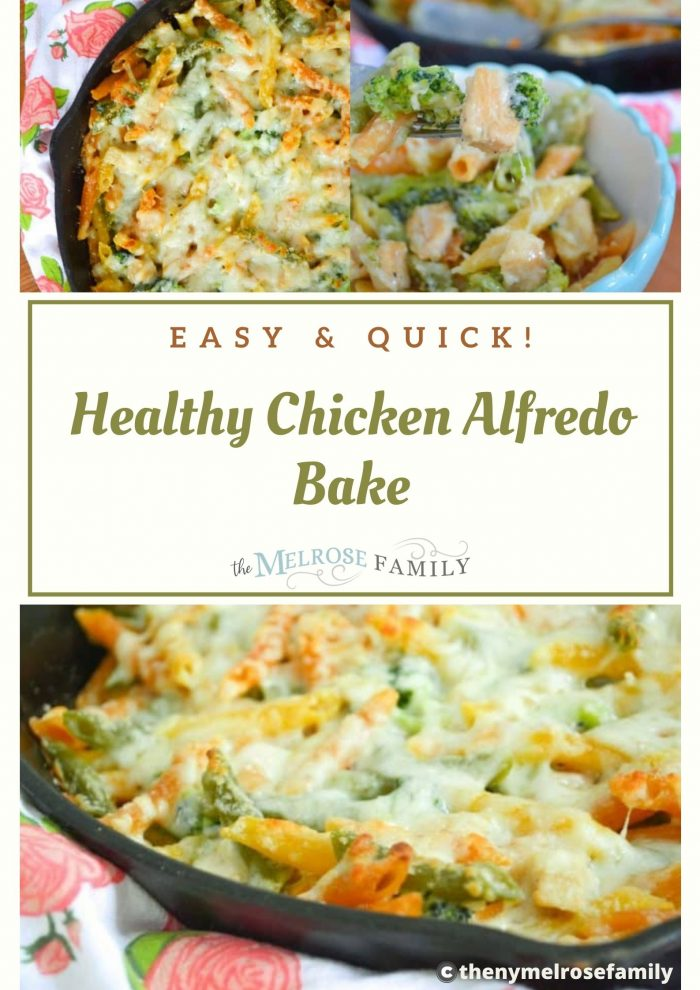 Healthy Chicken Alfredo Bake
