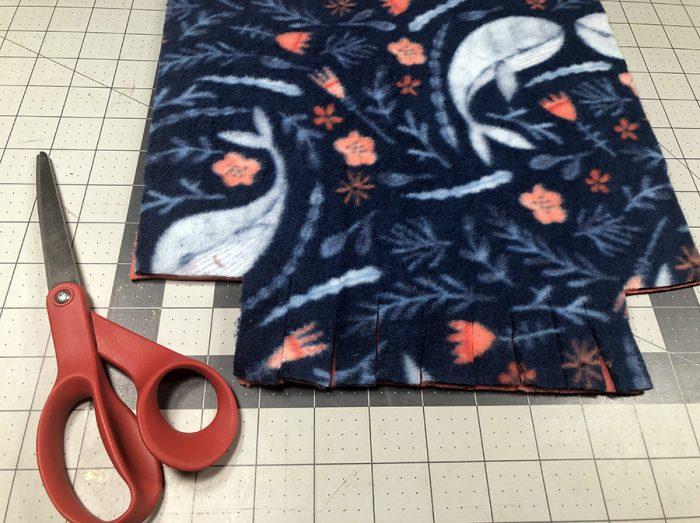 "Cutting 2"" squares on cutting mat"