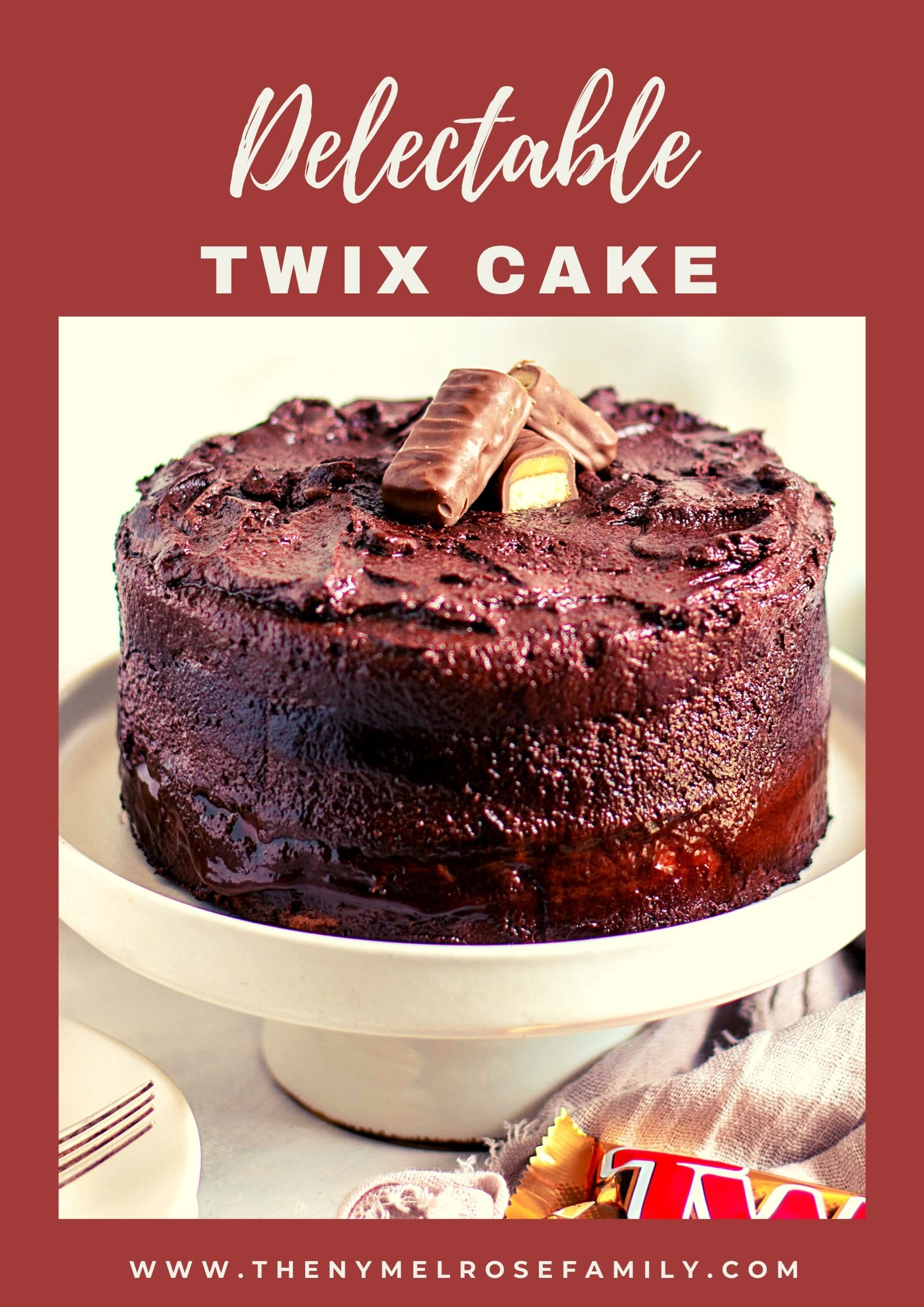 Delicious Twix Cake- perfect for leftover Halloween Candy! via @jennymelrose