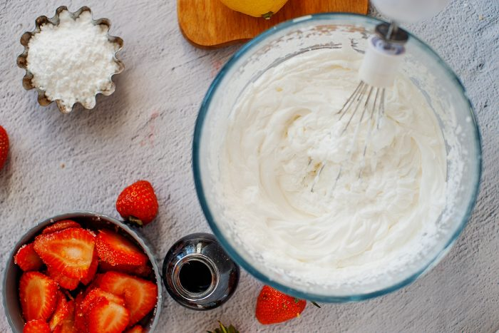 whipping cream with whisk