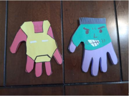 handprint father's day crafts
