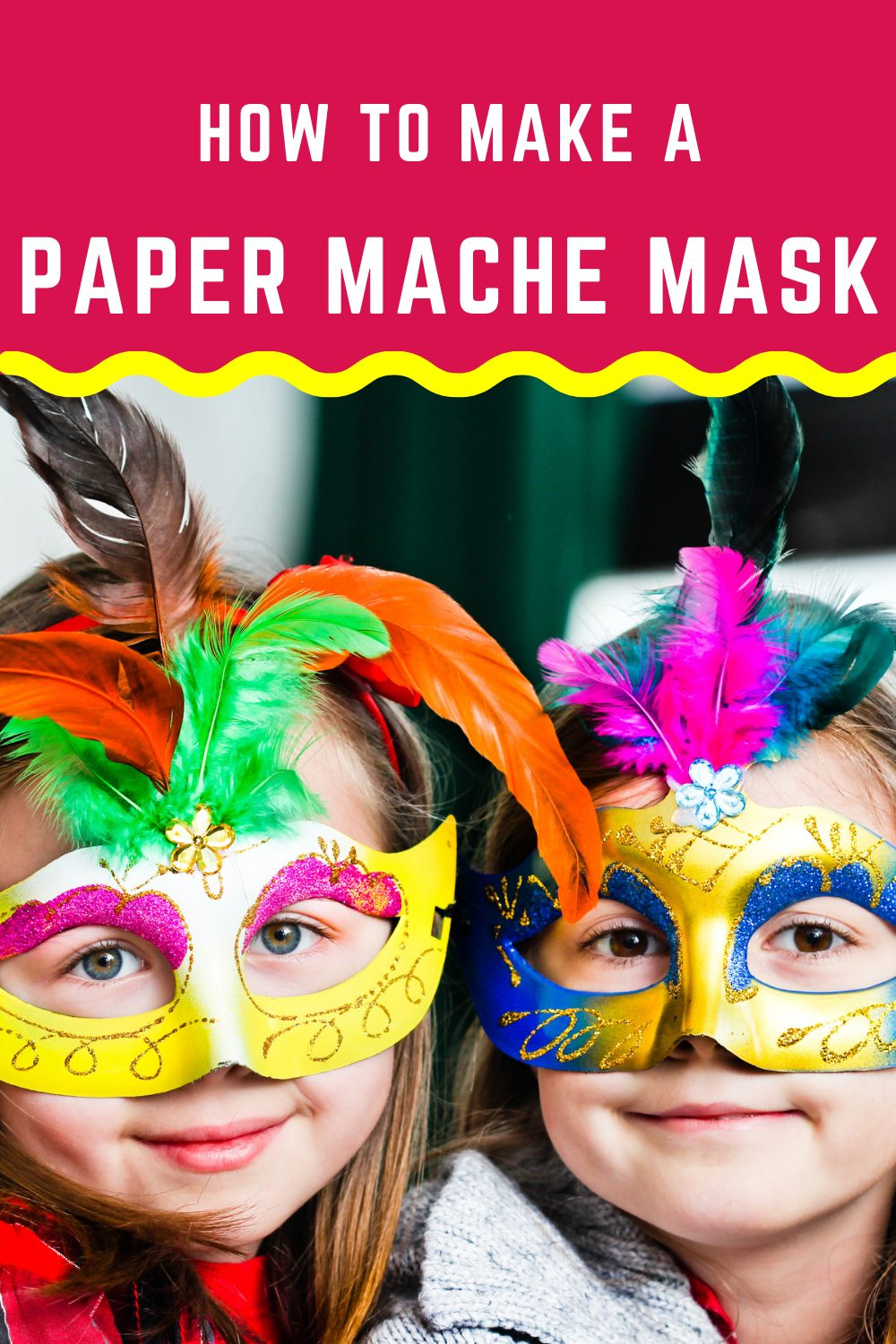 This step-by-step guide will help you to make a paper mache mask for your kids on any occasion from Halloween to masquerade parties. Head to our site for more details and get crafting with your kids! #papermachemask #kidscrafts #DIY #nymelrosefamily via @jennymelrose
