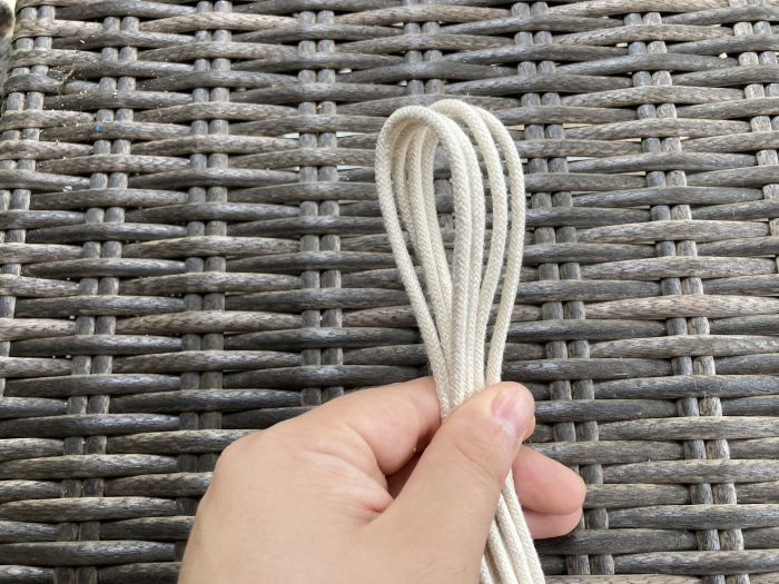 making a hook using macrame cord