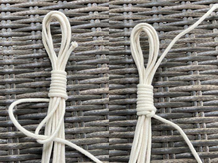 making a  macrame cord hook
