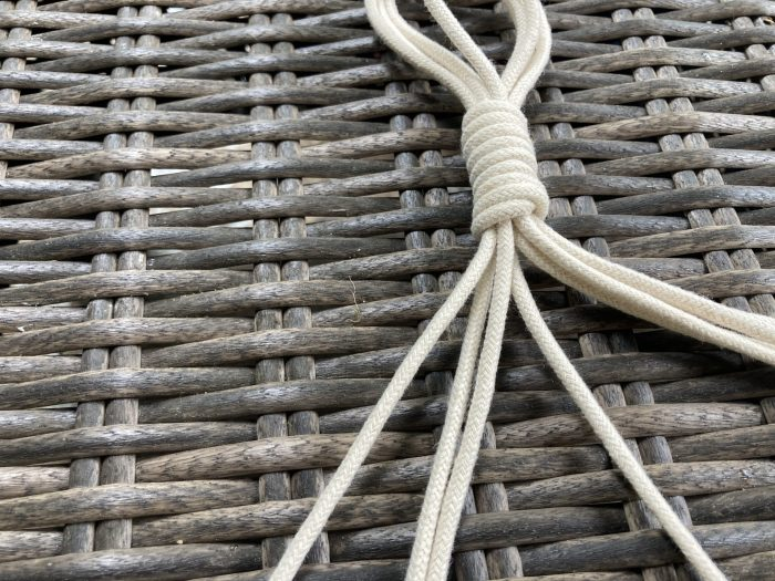 macrame cord hook with 8 straps