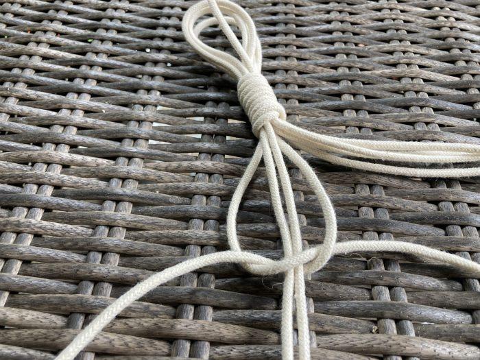 making straps for the macrame plant hanger