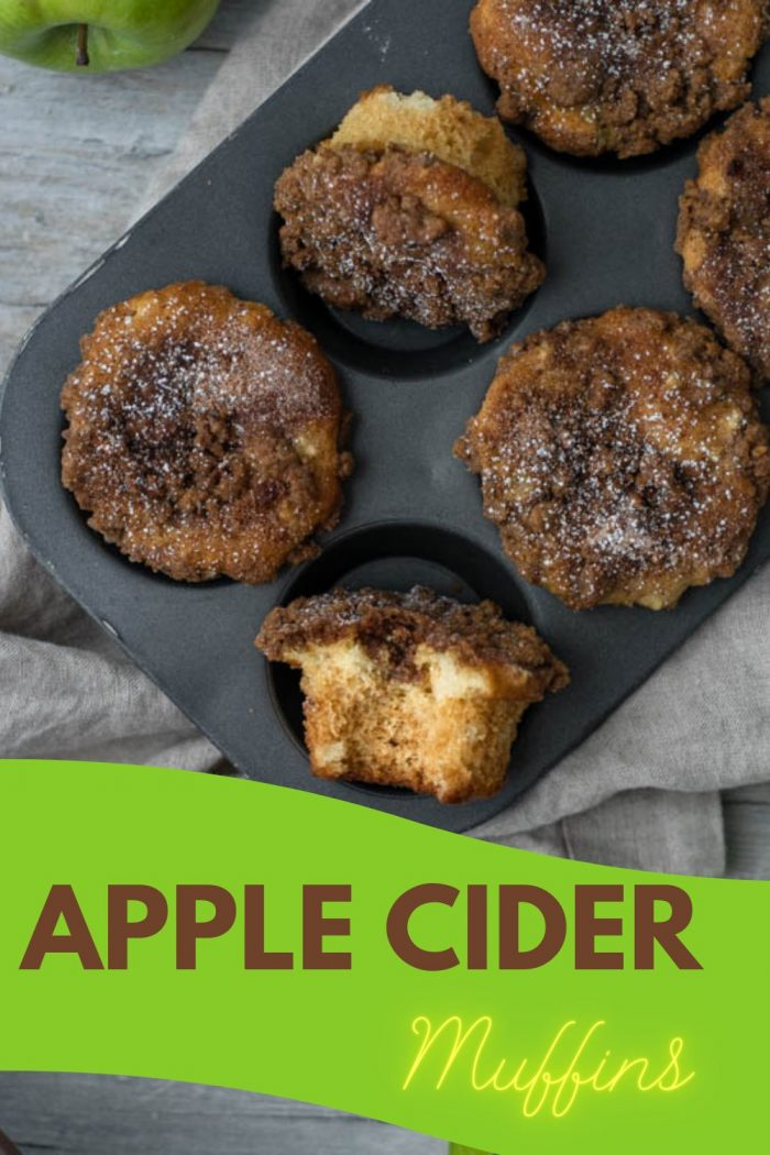 apple cider muffins in muffin mold