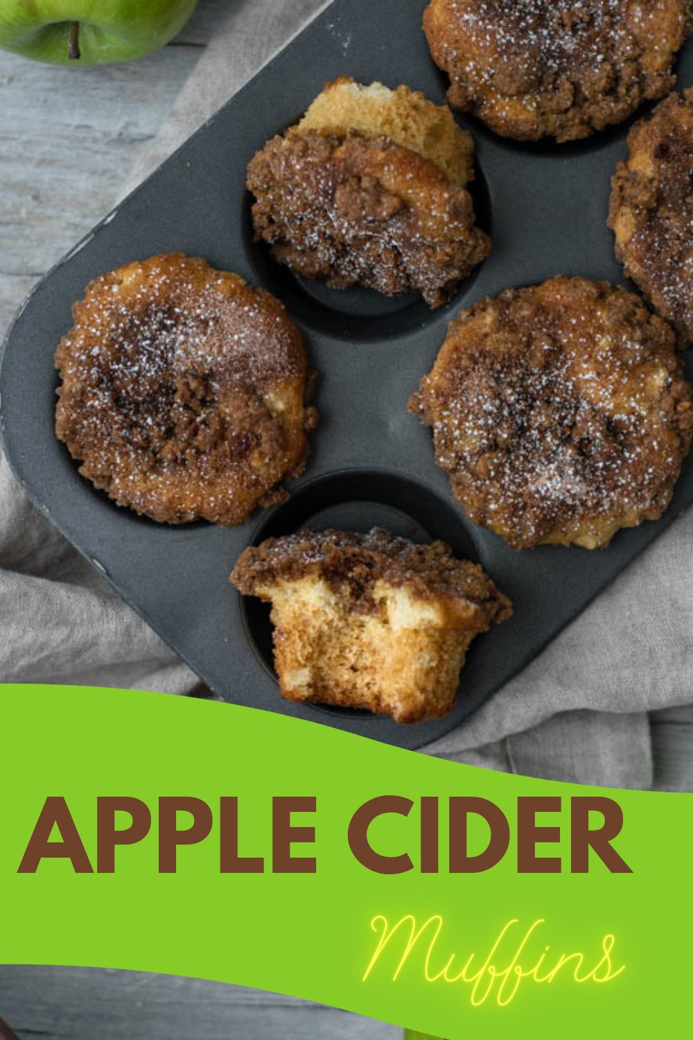 These New England inspired apple cider muffins make a great fall recipe that is quick to bake, full of flavor and delicious to eat. Head to our site for full recipe! #fallrecipes #applerecipes #muffins #homemade #easybakes #cupcakes #nymelrosefamily via @jennymelrose