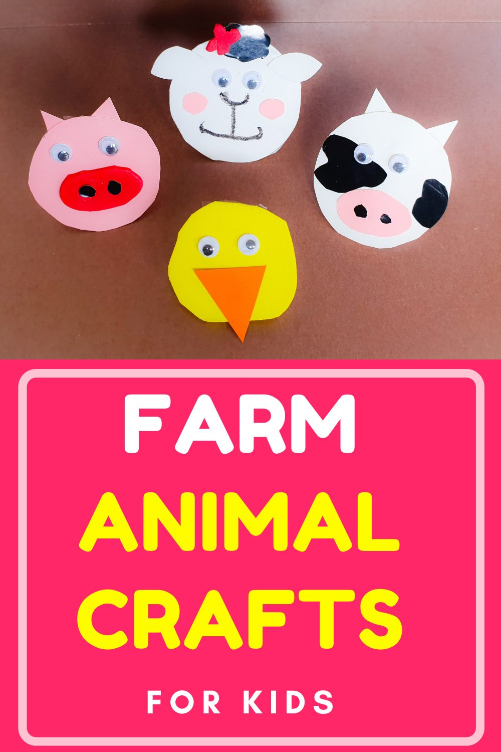 These easy and fun farm animal crafts are a great learning activity to enjoy with your kids and unleash their imagination. Head to our site for full details and get crafting! #kidscrafts #kidsactivity #animalcrafts #farmanimalcrafts #handmade #nymelrosefamily via @jennymelrose