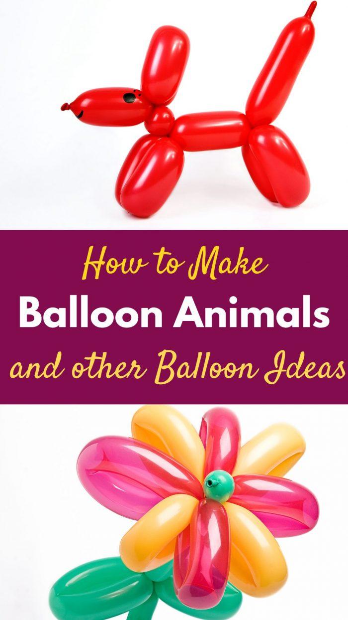 balloon animal crafts : balloon dog and flower