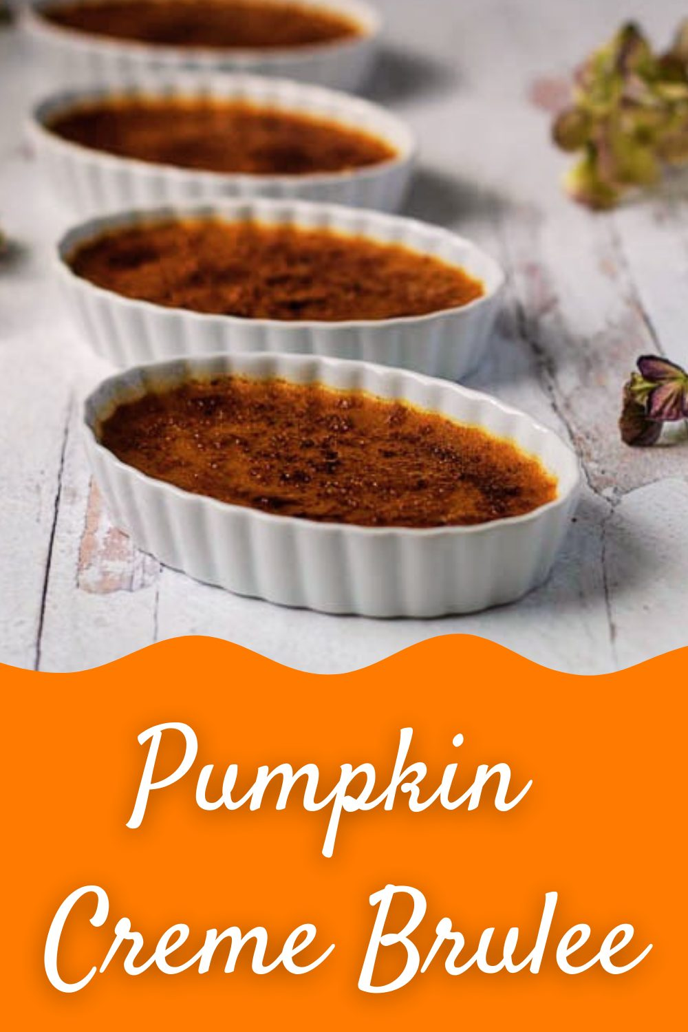 This Pumpkin Creme Brulee makes an easy and effortless fall dessert that is loaded with luscious pumpkin flavor and unique spice blend. Head to our site for full recipe and tips! #pumpkincremebrulee #dessertrecipes #fallrecipes #desserts #homemade #nymelrosefamily via @jennymelrose
