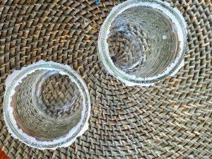 mason jars used for serving margarita